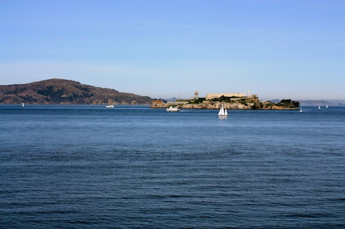 Alcatraz on a sunny day in January