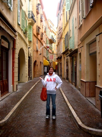 Sorority girl in streets of Monaco