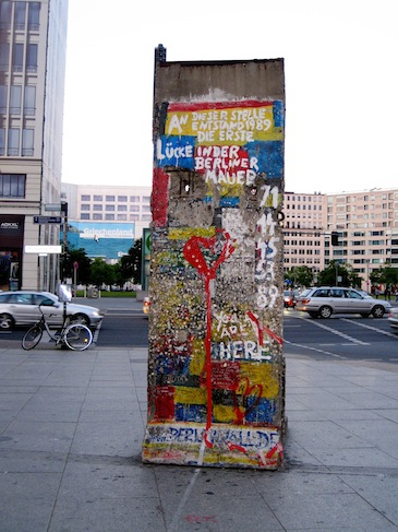 Piece of the Berlin Wall in Potsdamer Platz