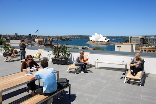 View from the rooftop terrace at Sydney Harbour YHA
