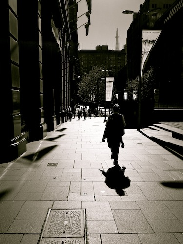 Businessman on the streets of Sydney CBD