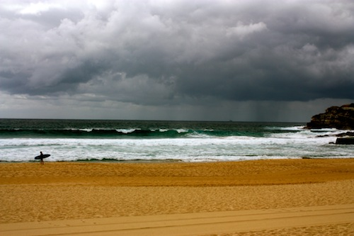 Bondi Beach on a stormy day in Sydney, Australia
