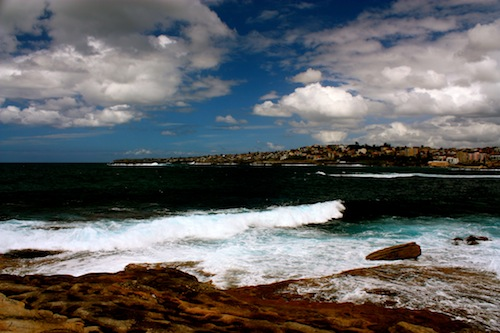 Ocean on the Coastal Walk from Bondi to Coogee