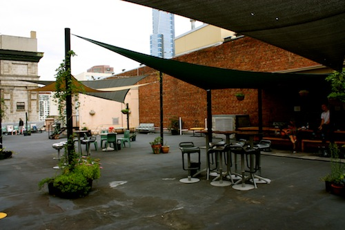 Rooftop lounge at The Greenhouse in Melbourne, Australia