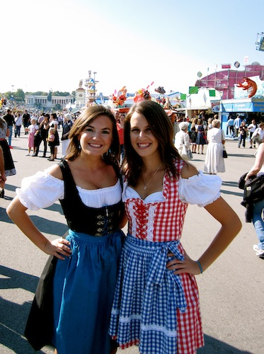 Christine Amorose & Melissa Promes at Oktoberfest, Munich, Germany