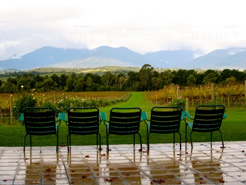 Paris-style chairs at Domaine Chandon, Yarra Valley, Australia