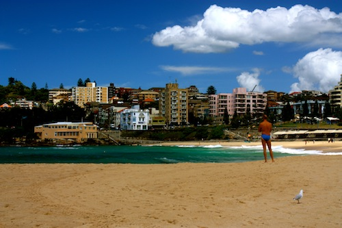 Sunny day in Coogee Beach in Sydney, Australia