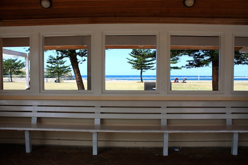 Bus shelter in Coogee Beach in Sydney, Australia