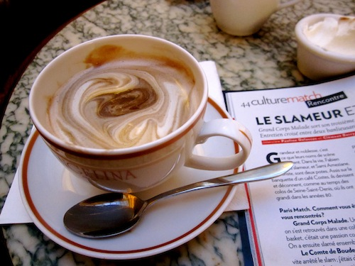 Hot chocolate at Ayngelina in Paris, France