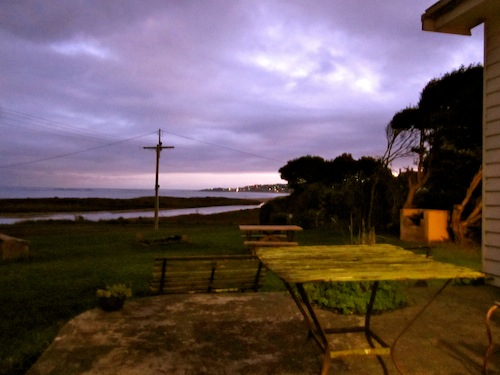 View from the Surfside Backpackers hostel in Apollo Bay, Great Ocean Road, Australia