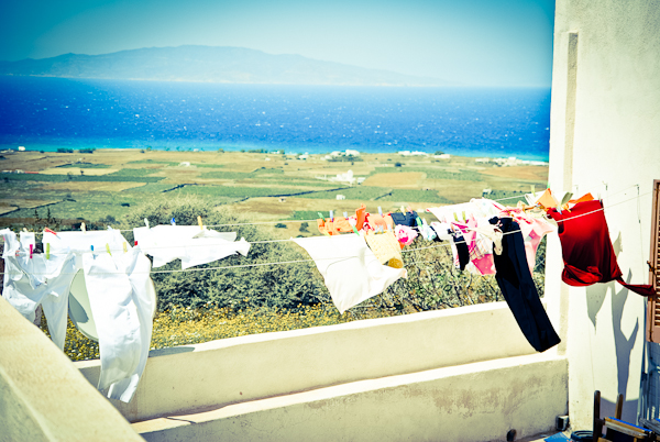 Laundry blowing in the wind in Greece, Ashlee Gadd, Where My Heart Resides