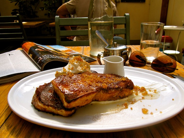 ... sunshine-infused courtyard and baklava French toast: need I say more