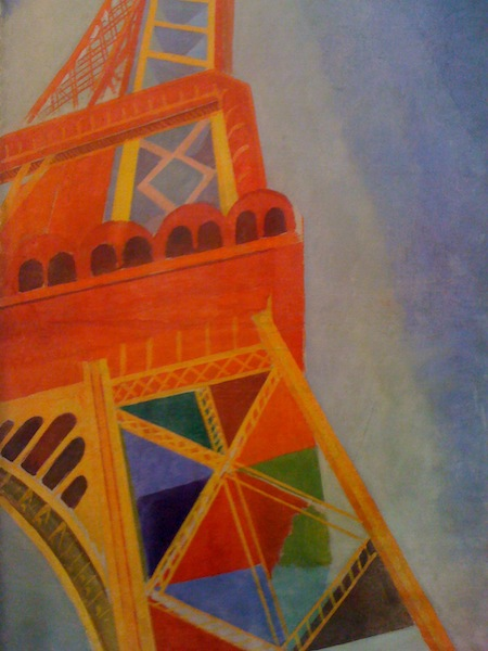 Colorful interpretation of the Eiffel Tower, Paris, France