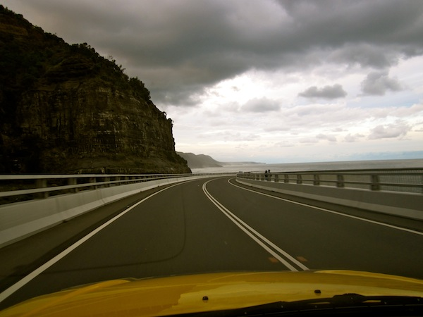 View from Sea Cliff Bridge on Grand Pacific Drive, New South Wales, Australia