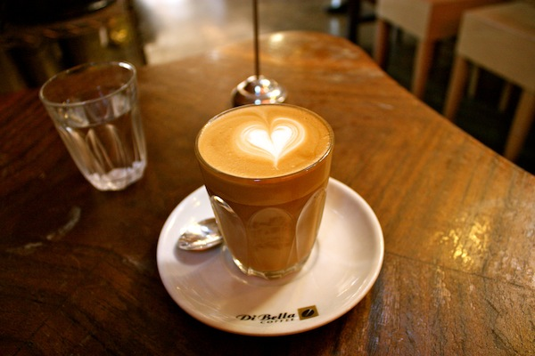Coffee in DiBella Warehouse in Melbourne, Australia