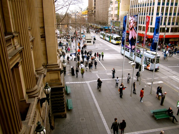 View from Melbourne Town Hall balcony, Australia