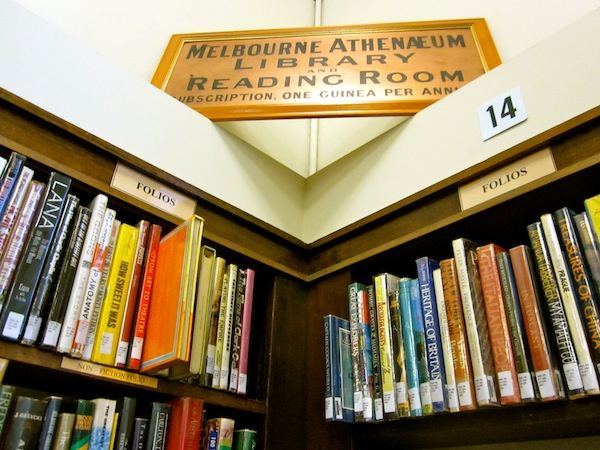 The Melbourne Athenaeum Library: private library and reading room