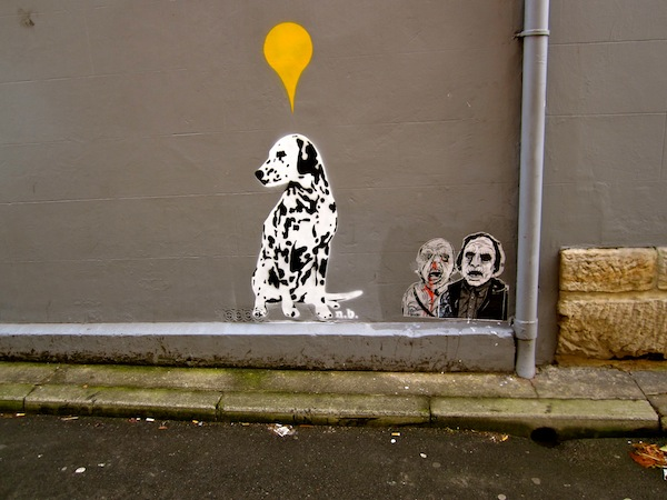 Dalmation street art in Paddington, Sydney, Australia