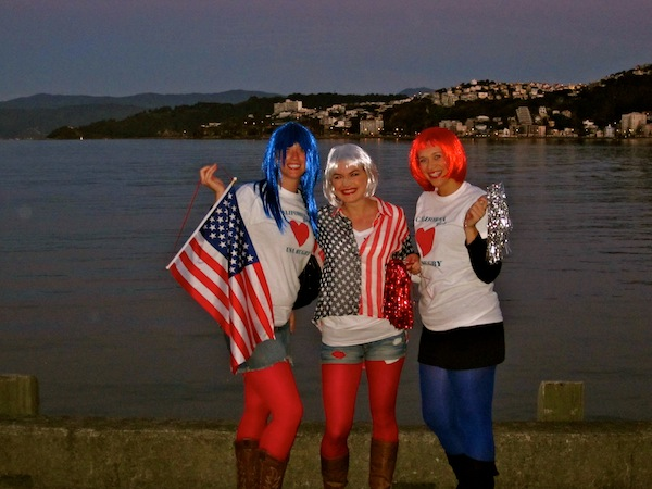 California USA girls in Wellington, New Zealand for Rugby World Cup 2011