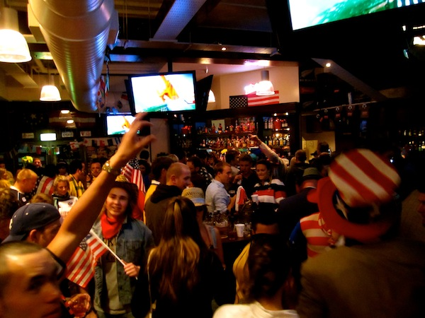 Inside the Chicago Bar in Wellington, New Zealand before USA Rugby World Cup