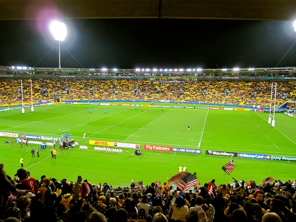 USA vs Australia Rugby World Cup match at Wellington, New Zealand