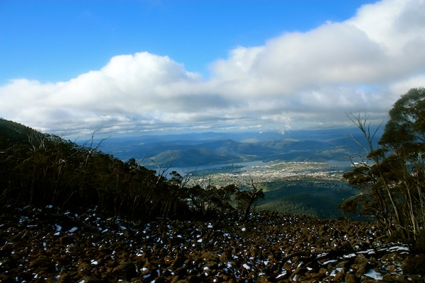 View from the drive up Mount Wellington, Hobart, Tasmania