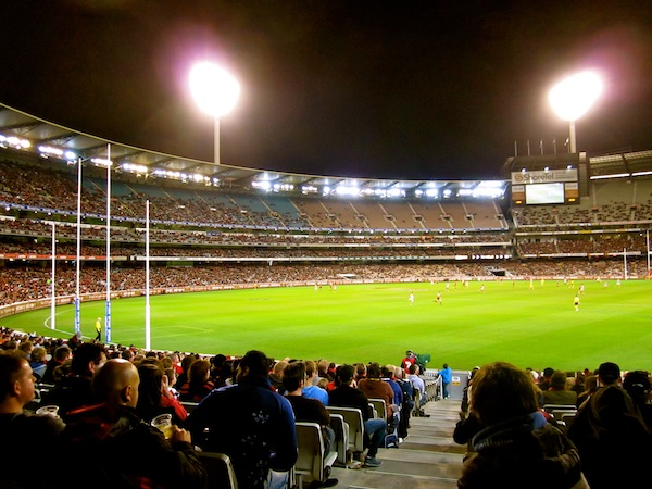 Melbourne Cricket Ground MCG on a game night 2011