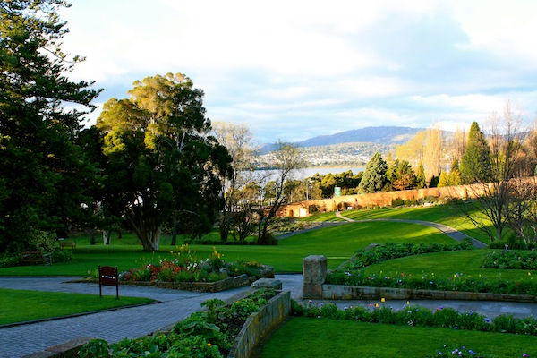 View from Royal Tasmanian Botanical Gardens, Hobart, Tasmania