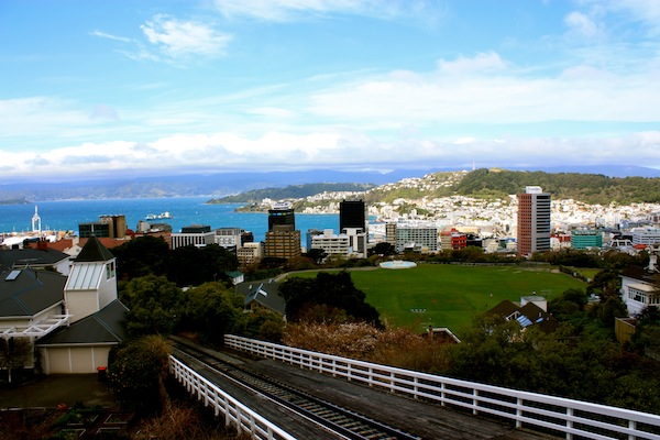 View from the Wellington cable car, New Zealand