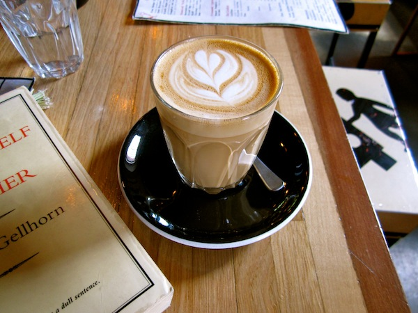 Latte at Three Bags Full, Abbotsford, Melbourne, Australia