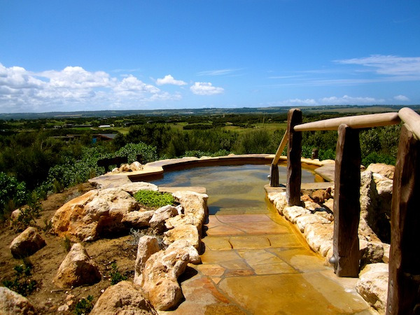 Hilltop pool, Peninsula Hot Springs, Mornington, Victoria, Australia
