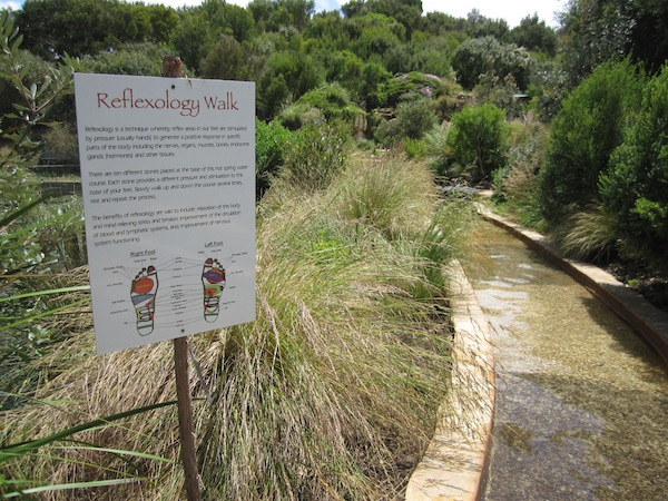 Reflexology walk at Peninsula Hot Springs, Mornington, Victoria, Australia