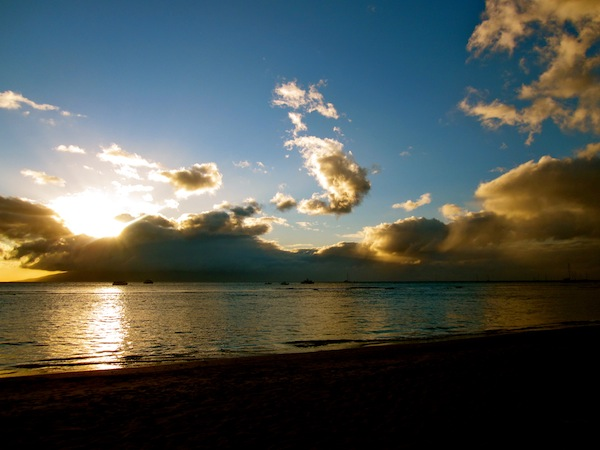Lahaina, Maui at sunset