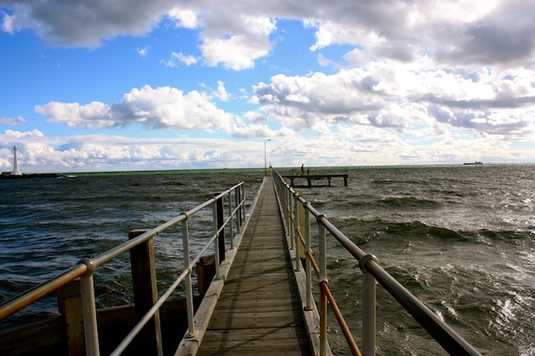 St Kilda Pier on a cloudy day, Melbourne, Australia