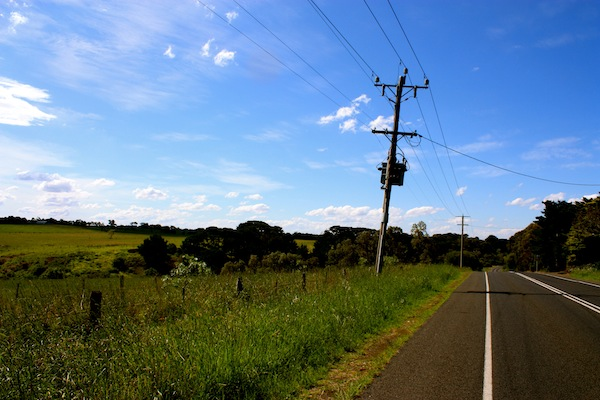 Road from Wallington to Geelong in Victoria, Australia