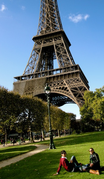 Picnic under the Eiffel Tower, Paris, France