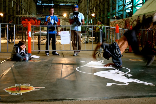 Breakdancers at Outpost Project 2011, Cockatoo Island, Sydney, Australia