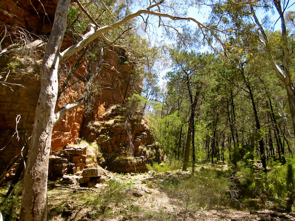 Hiking in Alligator Gorge, South Australia