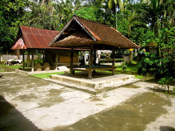 Balinese family compound with Banyan Tree Bike Tours, Bali, Indonesia