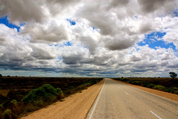 View of the clouds over the Nullarbor, Western Australia