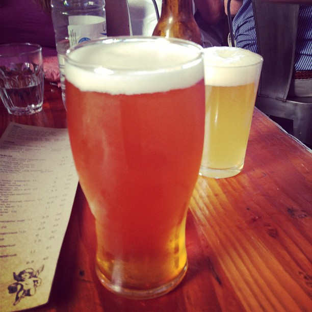 Beer at Little Creatures Brewery, Fremantle, Perth, Western Australia