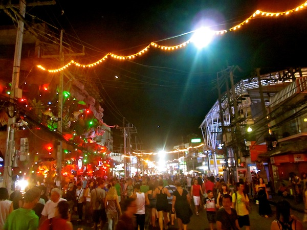 Sleazy streets of Patong at night, Phuket, Thailand