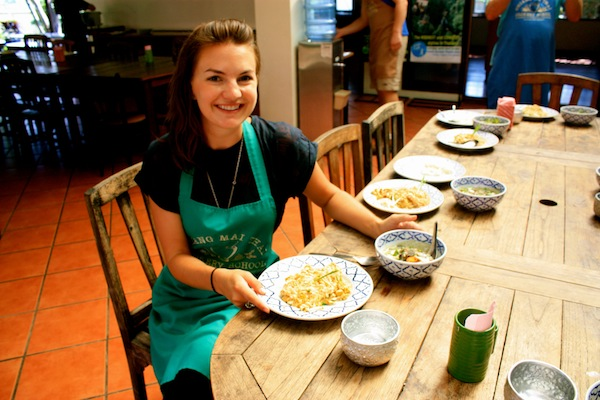 Christine Amorose at Chiang Mai Thai Cookery School, Thailand