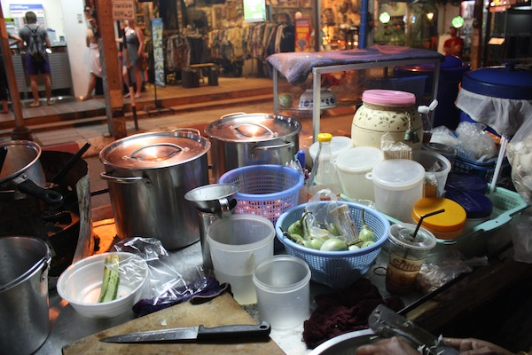Kitchen on a Thai street food motorbike, Chiang Mai, Thailand