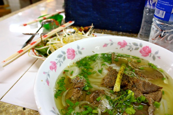Traditional Vietnamese pho soup in Saigon, Ho Chi Minh City, Vietnam