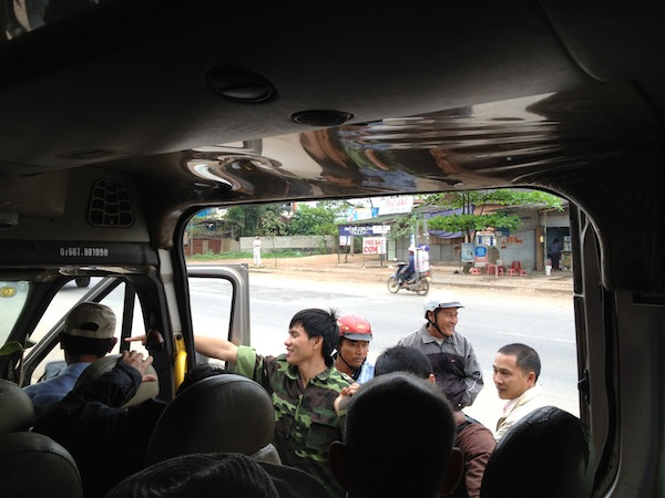 Taking the local bus in Vietnam