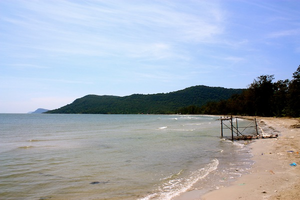 Beach in Pho Quoc National Park, island in South Vietnam