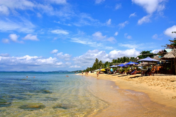 Long Beach on Pho Quoc, island in South Vietnam