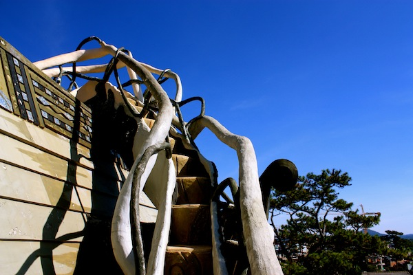 Outdoor staircase on Crazy House in Dalat, Vietnam