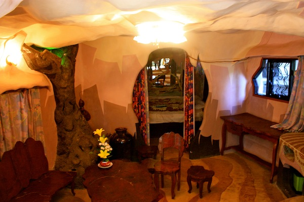 Lounge room in Crazy House in Dalat, Vietnam
